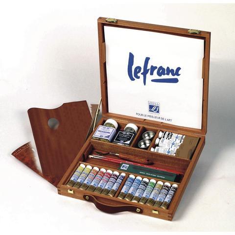 Набор масляных красок Lefranc&Bourgeois EXTRA FINE Corot в деревянном ящике (14 х 20 мл)