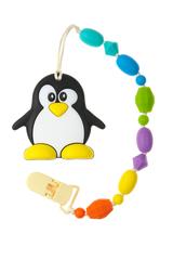 Силиконовый держатель с прорезывателем МАМидея Пингвин