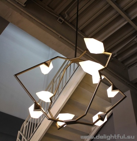 replica Seed chandelier by Bec Brittain for Roll & Hill ( black )