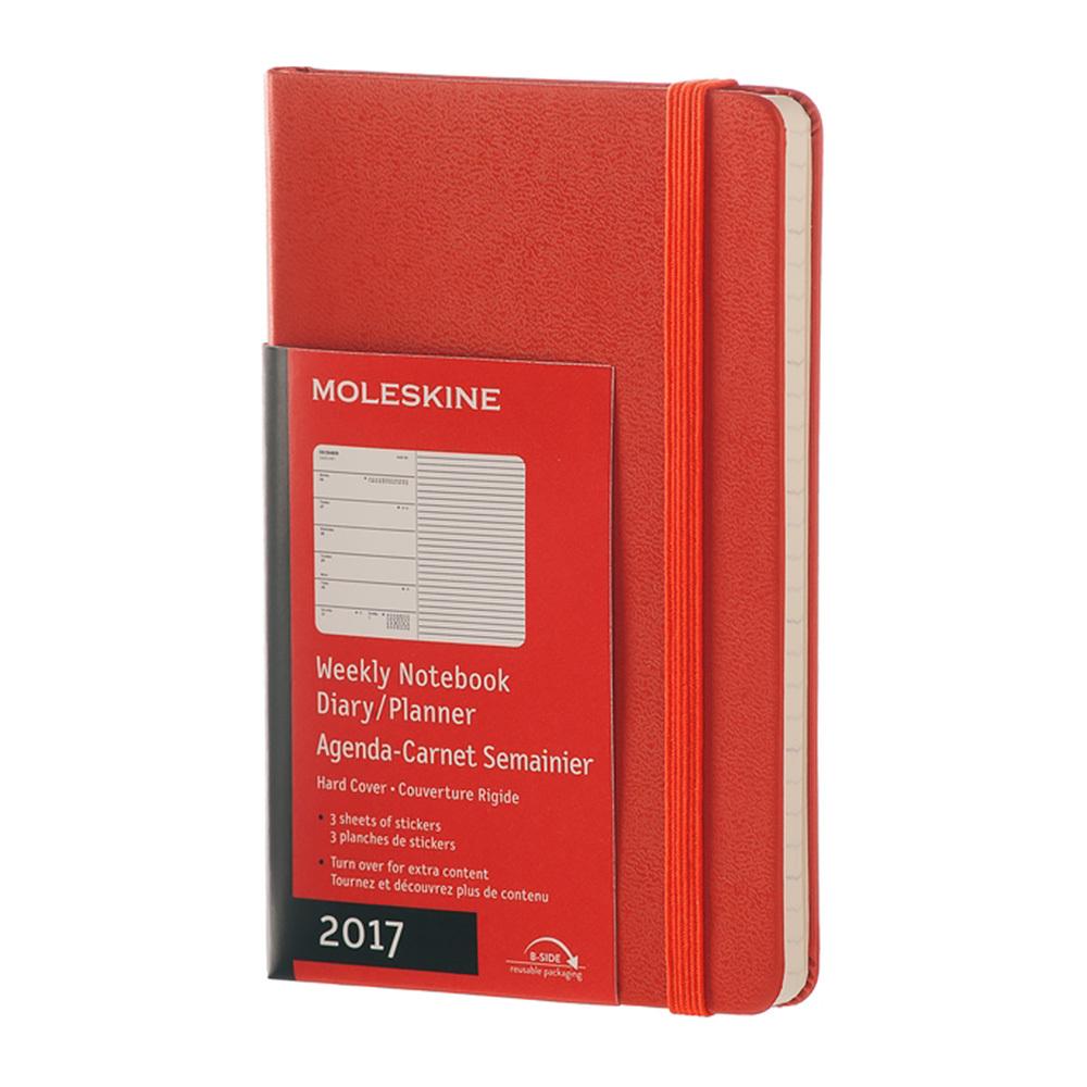 Еженедельник Moleskine Classic Wknt Pocket, цвет оранжевый