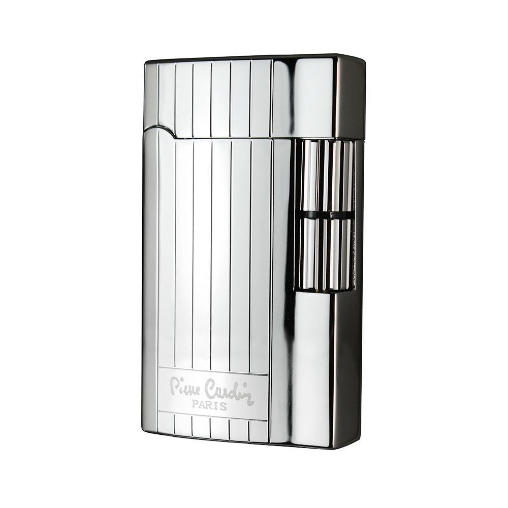 Зажигалка Pierre Cardin кремниевая газовая,цвет хром с гравировкой, 2,9х0,9х5,1см
