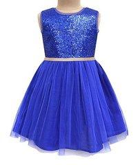 ATUN Платье синее с пайетками ДП29