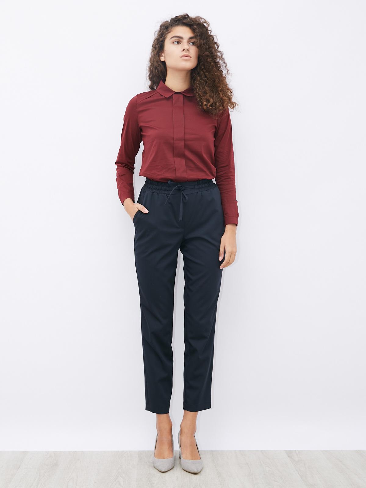 Блуза с декоративной деталью спереди
