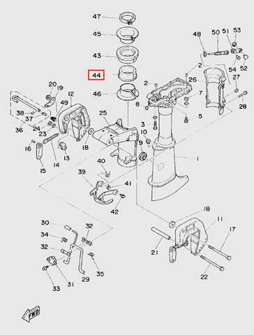 Втулка дейдвуда для лодочного мотора T5 Sea-PRO (10-44)