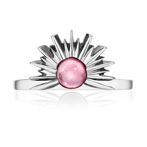 Кольцо SUNSET - Розовый турмалин