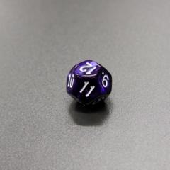 Куб D12 мраморный: Фиолетовый
