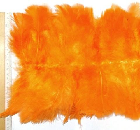Тесьма  из перьев индейки  двусторонняя, оранж