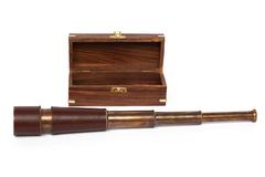 Подзорная труба в подарочной деревянной коробке с латунным декором Secret De Maison( mod. 11148/18 ) — античная медь