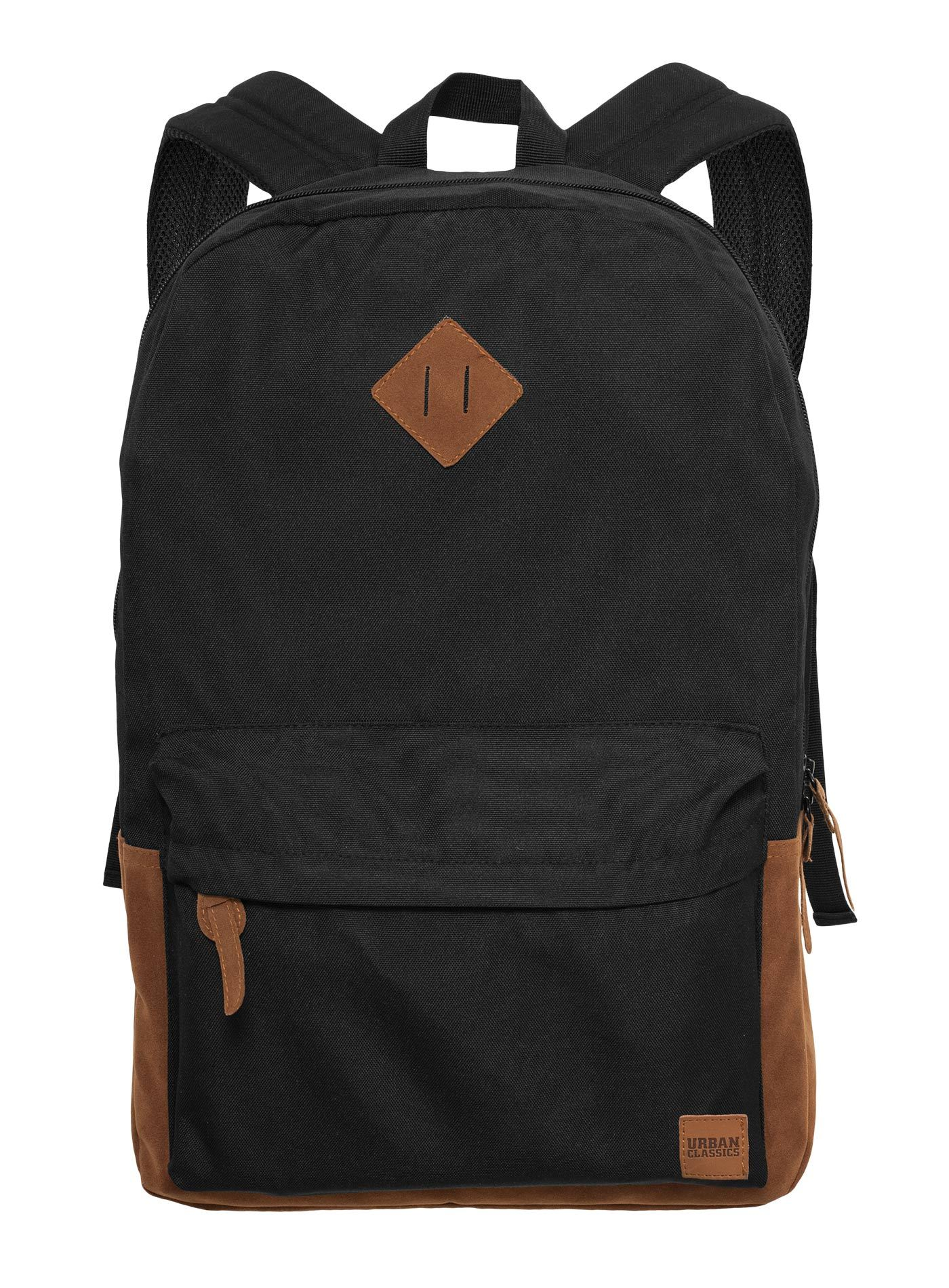 Рюкзак URBAN CLASSICS Leather Imitation Backpack Black/Brown