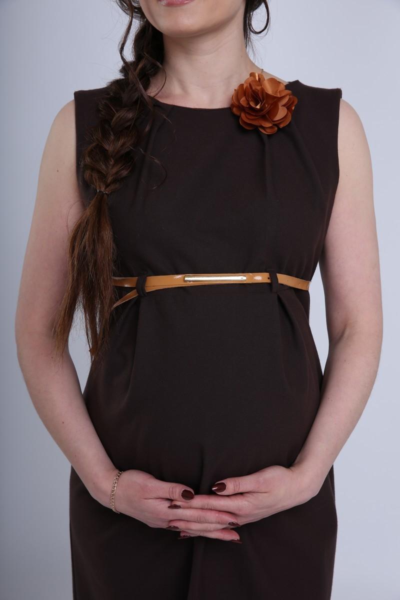 Платье для беременных 06198 коричневый