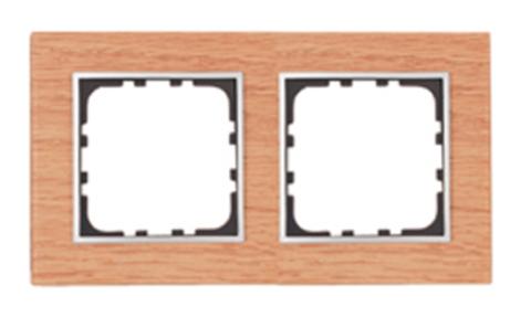 Рамка на 2 поста из натурального светлого дерева. Цвет Дуб. LK Studio LK60 / LK80 (ЛК Студио ЛК60 / ЛК80). 864255
