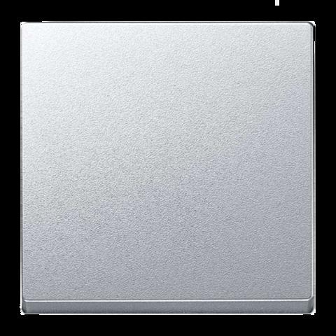 Выключатель одноклавишный проходной. Цвет Алюминий. Merten. MTN3116-0000+MTN412160