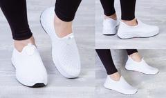 """Обувь женская 3003 Кеды """"Н5-3 - Носик"""" Белые"""