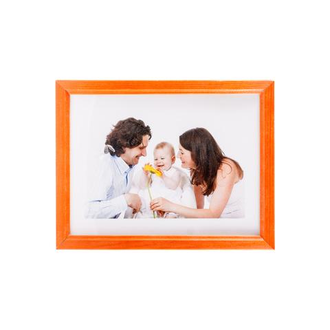 Фоторамка сосна  цветная 15х20 7N68 оранжевая