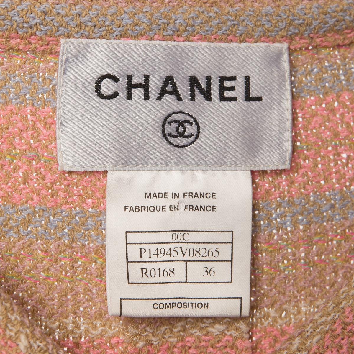 Элегантное платье нежно-розового цвета от Chanel, 46 размер.