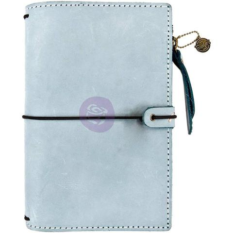 Органайзер дорожный -Prima Traveler's Journal Leather Essential -Ice Blue- 12,5 х18,5 см. Натуральная кожа.