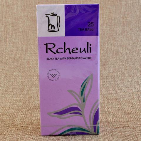 Чай черный с бергамотом Rcheuli, 45г, в пакетиках