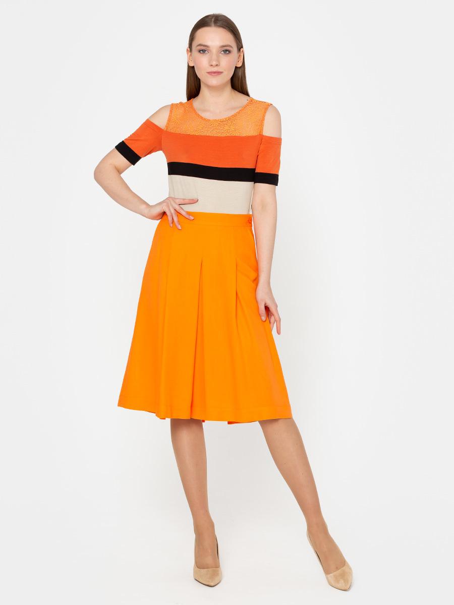 Юбка Б031-397 - Женственная юбка в складку призвана, чтобы ежедневно создавать романтичный и смелый образ . Длина и крой отлично подойдут для всех типов фигуры.
