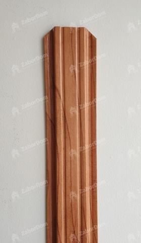 Евроштакетник металлический 85 мм Золотое дерево П - образный 0.5 мм