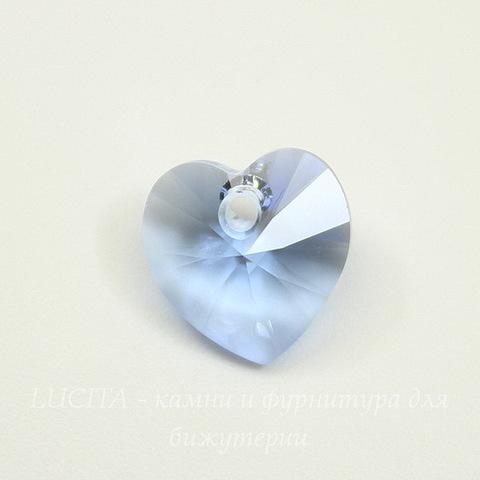 6228 Подвеска Сваровски Сердечко Light Sapphire (10,3х10 мм)