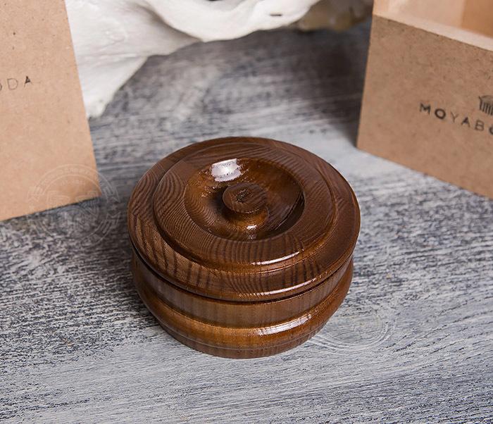 RAZ286 Деревянная чаша с крышкой для бритья от «MOYABORODA» фото 04