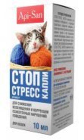Api-San Stop-Stress drops for cats 10ml