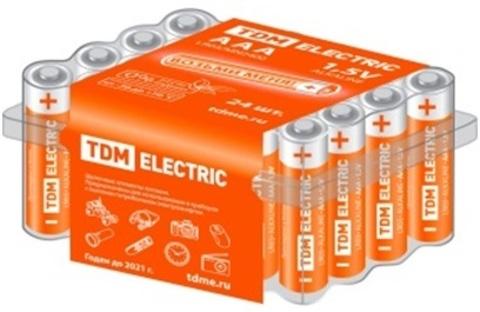 Элемент питания LR03 AAA Alkaline 1,5V BOX-24 TDM