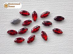 Камень маркиза в цапах 5*10 мм красный