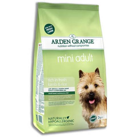 Ардэн Грэндж Корм сухой для взрослых собак мелких пород, с ягненком и рисом (6 кг), AG Adult Dog Lamb & Rice Mini