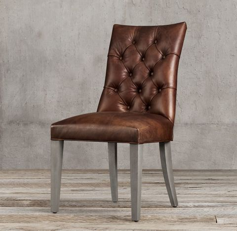 Martine Tufted Leather Side Chair