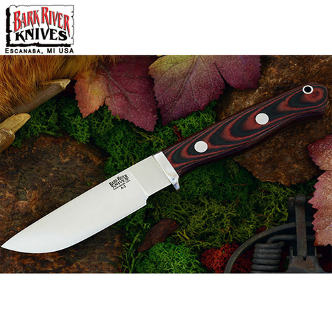 Нож Bark River модель Gameskeeper Black & Red Linen Micarta