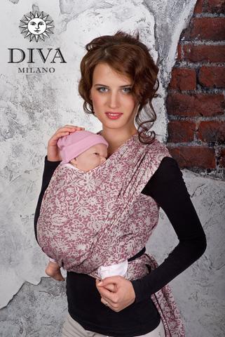 Слинг-шарф Diva Milano Veneziano Arancio со льном