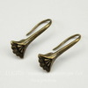 Швензы - крючки  21х9 мм с держателем для подвески (цвет - античная  бронза)