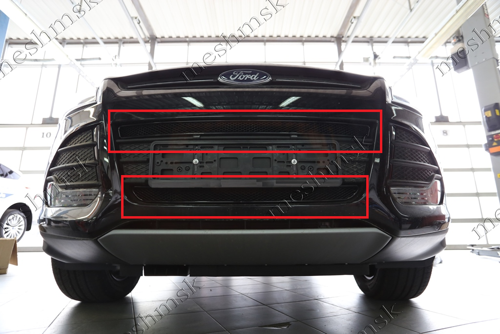 Рамка (сетка) для защиты радиатора Ford Kuga (2013-) for ford 2013 2014 year kuga escape led strip drl daytime running light