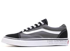 Кеды Vans Low Old Skool Grey Black Suede
