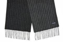 Шерстяной шарф, мужской в полоску темно-серый 31292