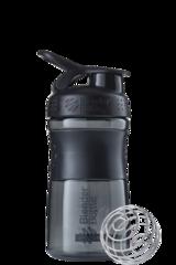 BlenderBottle SportMixer, Универсальная Спортивная бутылка-шейкер с венчиком.  Black-Black-черный-черный 591 мл