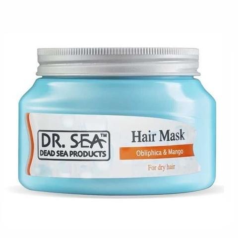 Маска для восстановления и ухода за обезвоженными, тусклыми и секущимися волосами Dr.Sea с маслами облепихи и манго 300мл