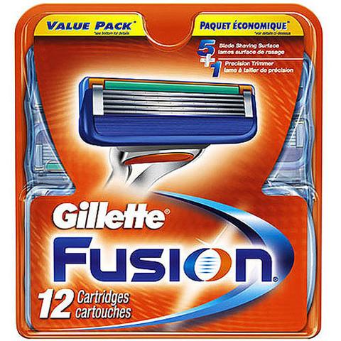 Сменные лезвия Gillette Fusion 12 шт