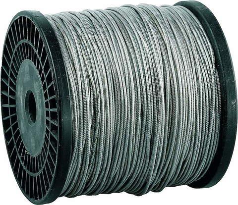 Трос стальной, оцинкованный, DIN 3055, в оплетке ПВХ, d=5/6 мм, L=150 м, ЗУБР Профессионал 4-304120-05-06