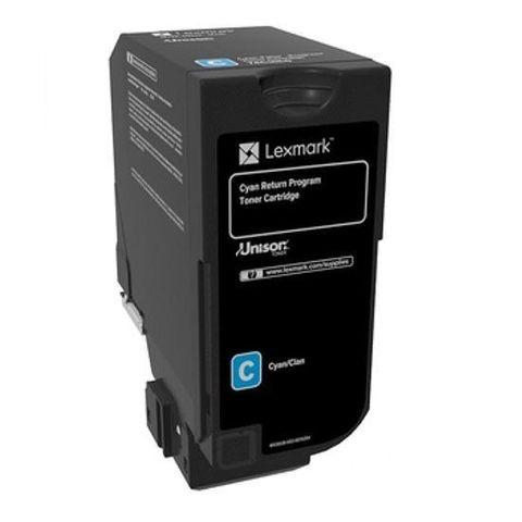 Тонер-картридж для принтеров Lexmark CS725 голубой (cyan). Ресурс 12000 стр (74C5HC0)