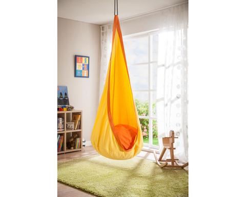 Кресло гамак детское из хлопка Joki оранжево-желтый с подушкой JOD70-52