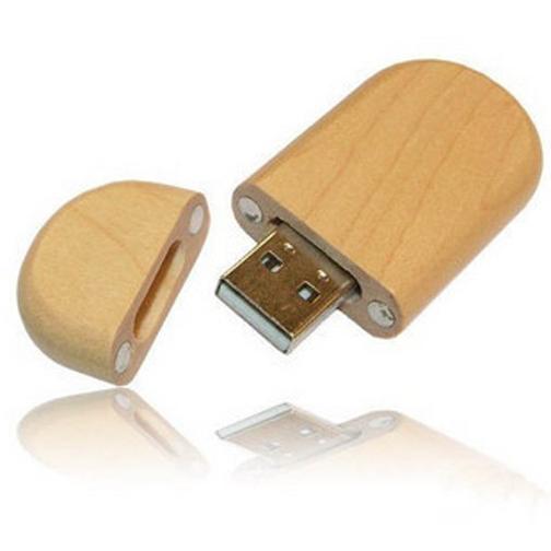 usb-флешка деревянная овальная