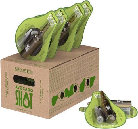 Увлажняющее и защитное средство Avokado Shot ,Selective,12 х 10 мл.