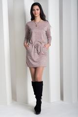 Ксена. Практичное молодежное платье. Пудра