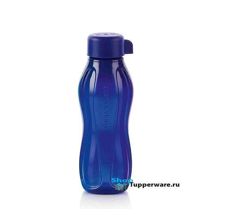 бутылка эко мини 310мл в темно синем-цвете