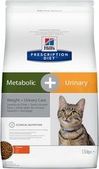 Hill's Prescription Diet Metabolic, Weight, Urinary Care  сухой диетический корм для кошек при избыточном весе и мочекаменной болезни, с курицей
