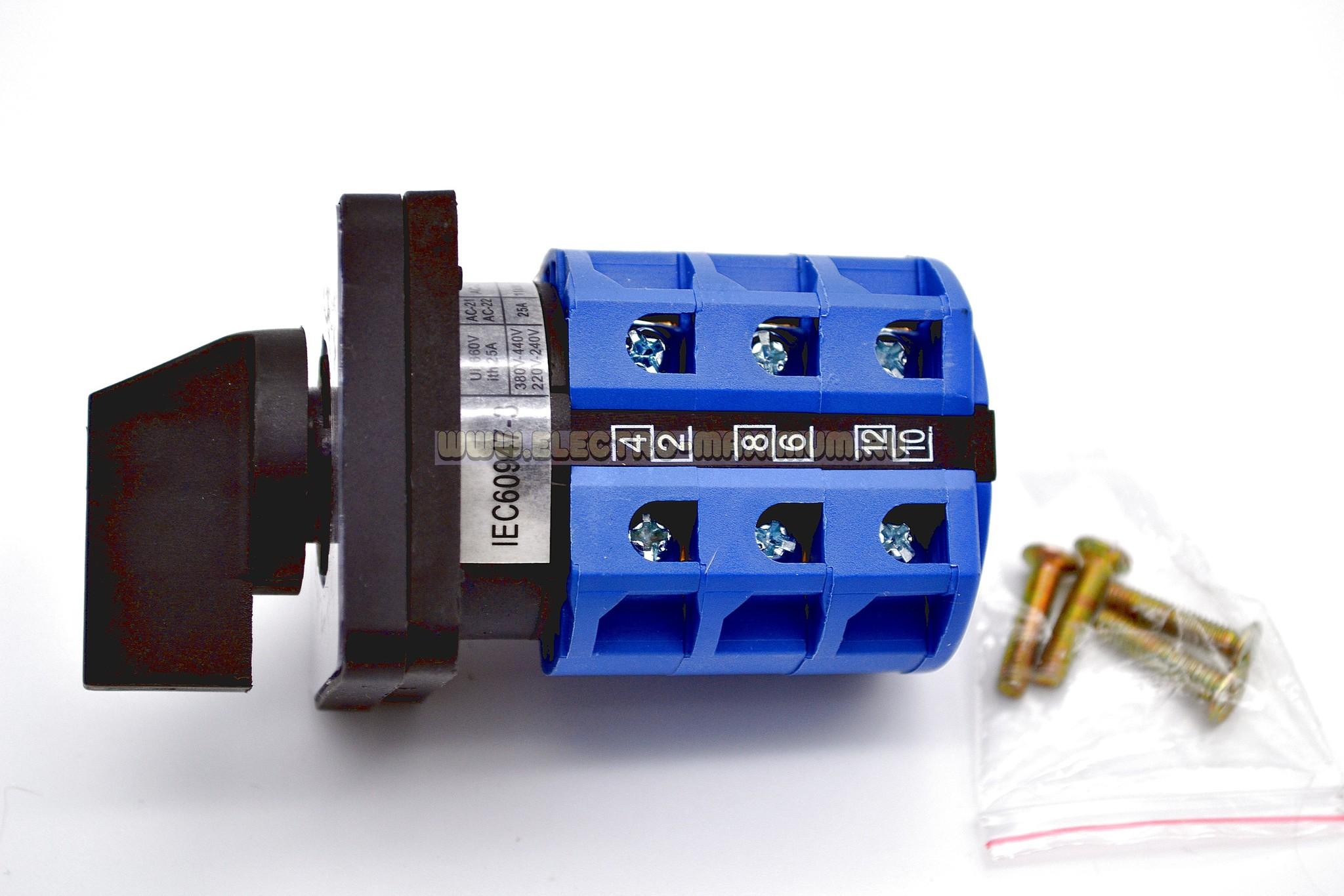 LW28 - 25, напряжение 440 в, ток 25 А.