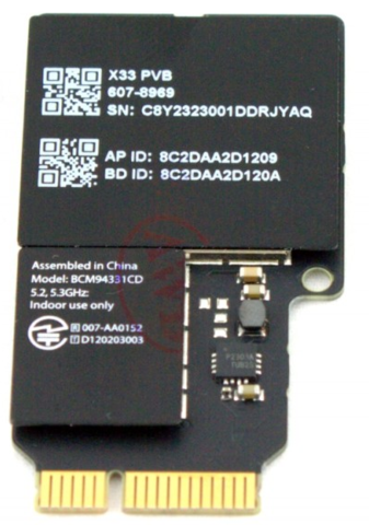 Модуль WiFi для iMac 21,5 A1418 AirPort Card BCM94331CD , 2012 - 2014