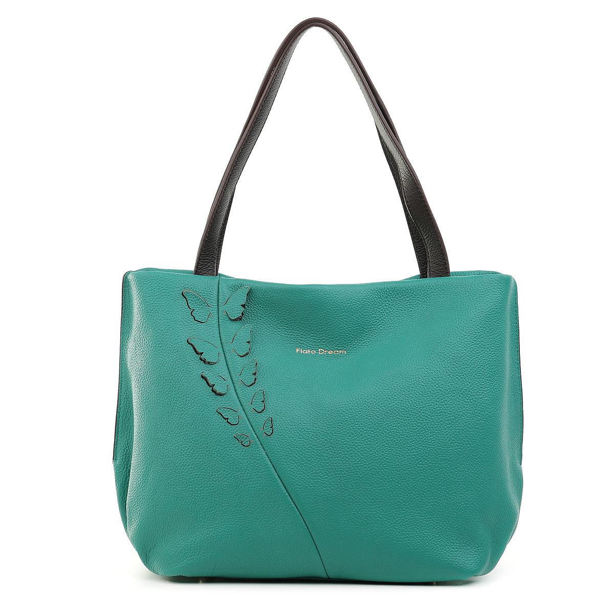 3012 FD кожа изумруд/фарфала  (сумка женская)